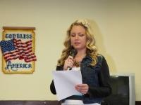 Bonnie reads her winning essay